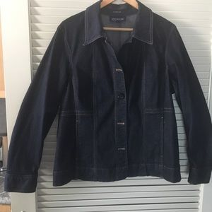 Jones New York Jean jacket. Dark navy.